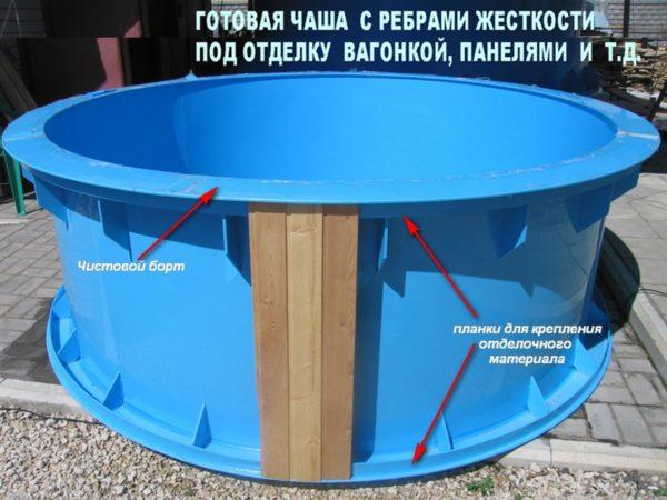 Пластиковая чаша для бассейна