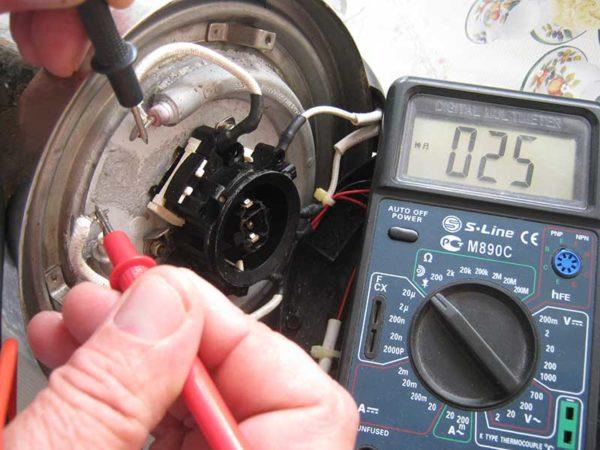 Подсоединение электрочайника напрямую к сети