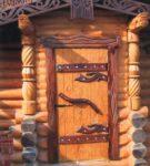 Наборные деревянные двери входные
