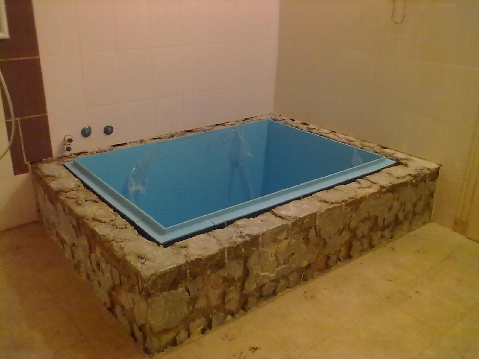 Как построить баню с бассейном своими руками 30
