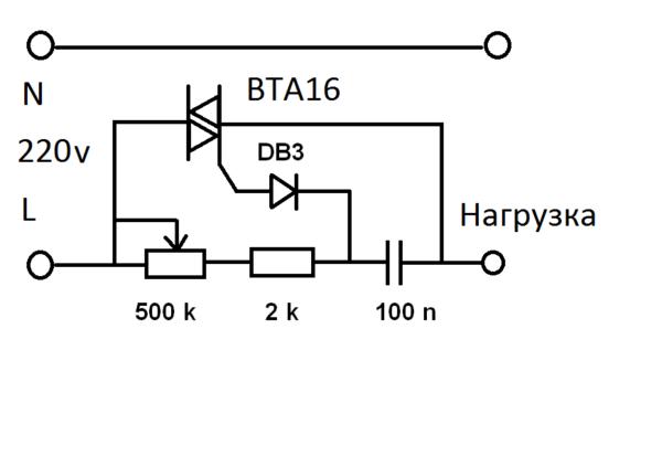 Простейшая схема регулятора оборотов