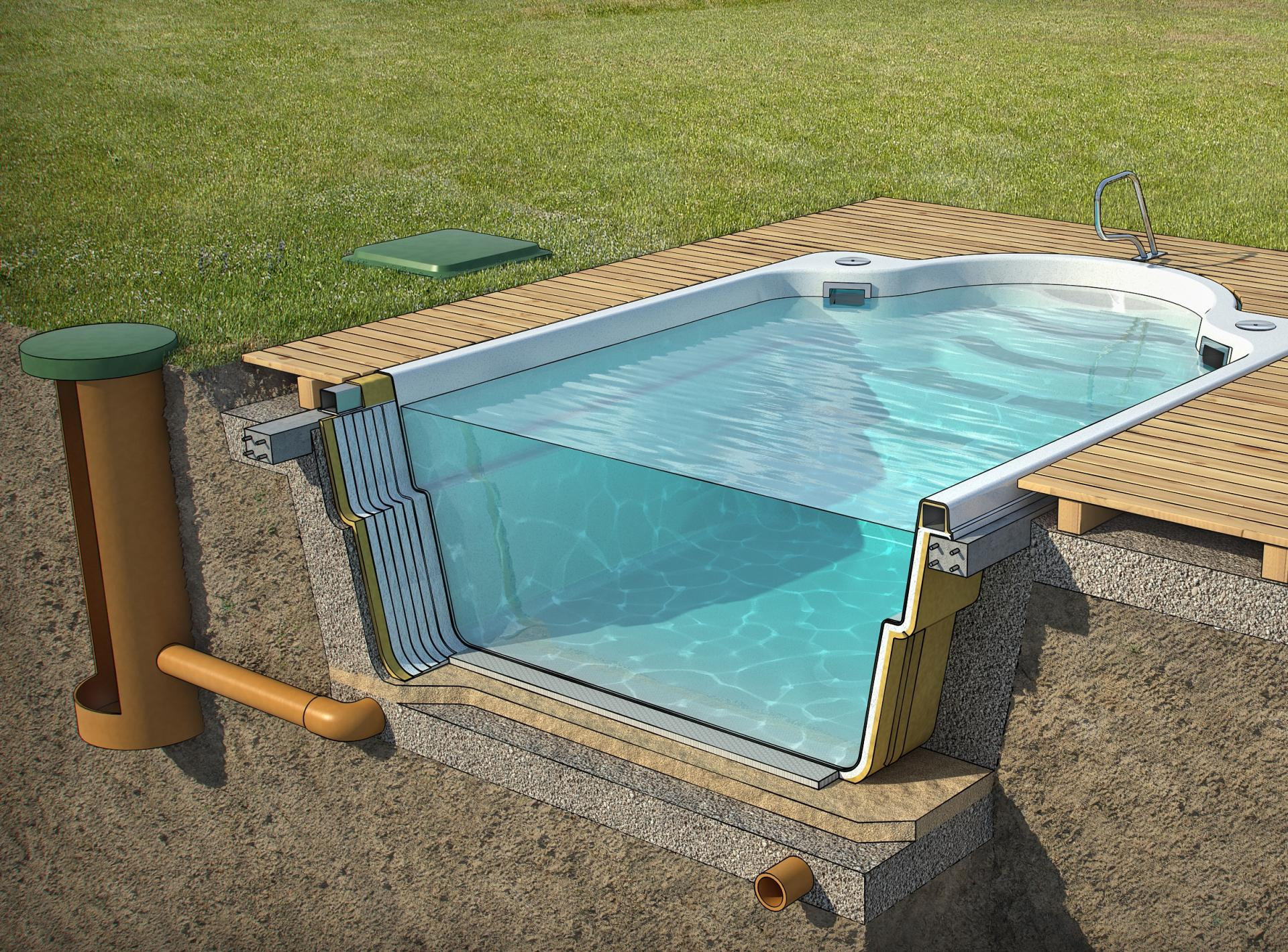 Напольный бассейн своими руками