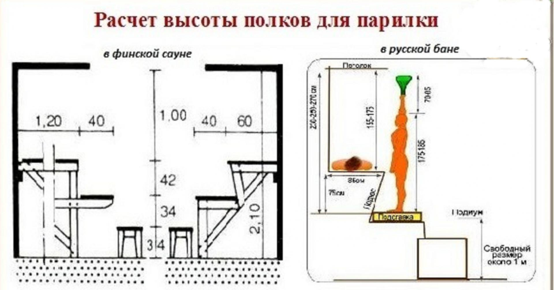 Как правильно сделать полки в русской бане