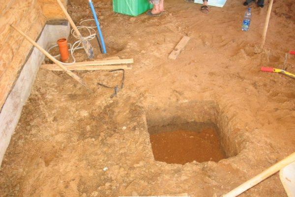 Сливная яма под моечной