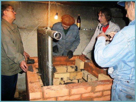 Строительство печи с водяным контуром