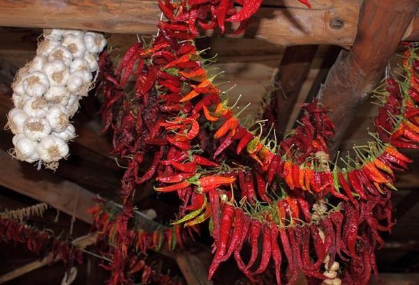 Связки жгучего красного перца