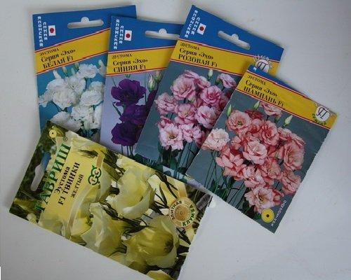 упаковки семян эустомы