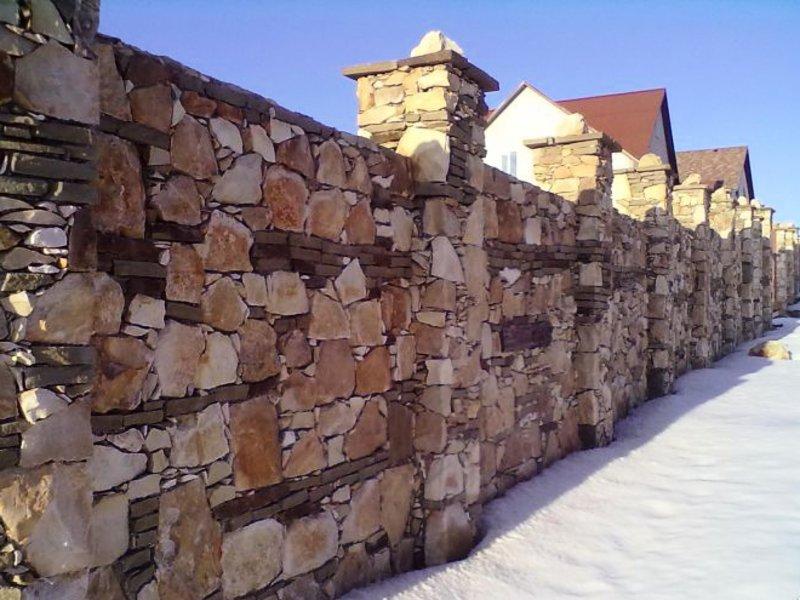 Каменный забор своими руками фото 119