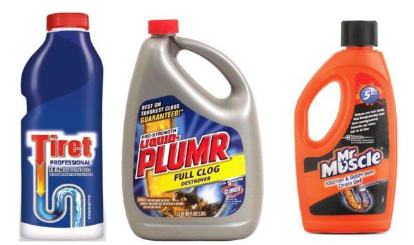 Химические средства для борьбы с засором канализации