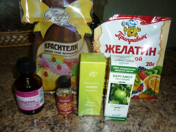 Ингредиенты для гелевого освежителя