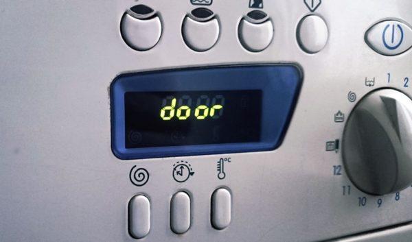 Код ошибки на дисплее стиральной машинки