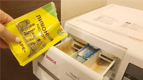Лимонная кислота в стиральной машинке