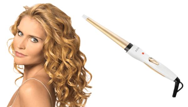 Пример завивки волос конической плойкой