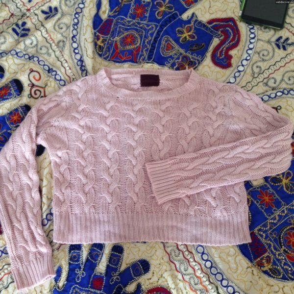 слишком растянутый свитер
