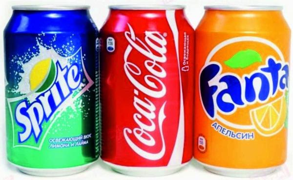 Спрайт, Кока-кола и Фанта