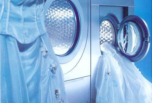 Стирка свадебного платья в автоматической машинке