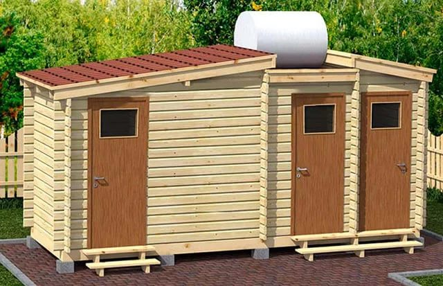 Как построить душ туалет сарай на даче