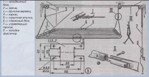 Схема потолочной сушилки