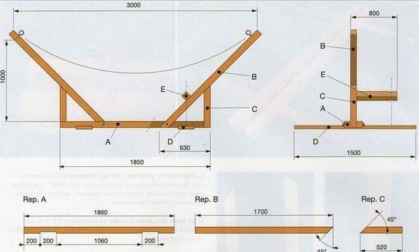 chertezh-vtoroy-konstrukcii-600x361 Как сделать игрушечный гамак из ниток. Гамак своими руками из ткани и веревки
