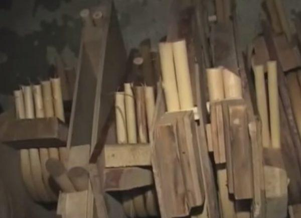 Деревянные элементы в сушилке