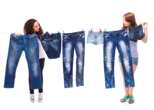 Правильная сушка джинсовой одежды