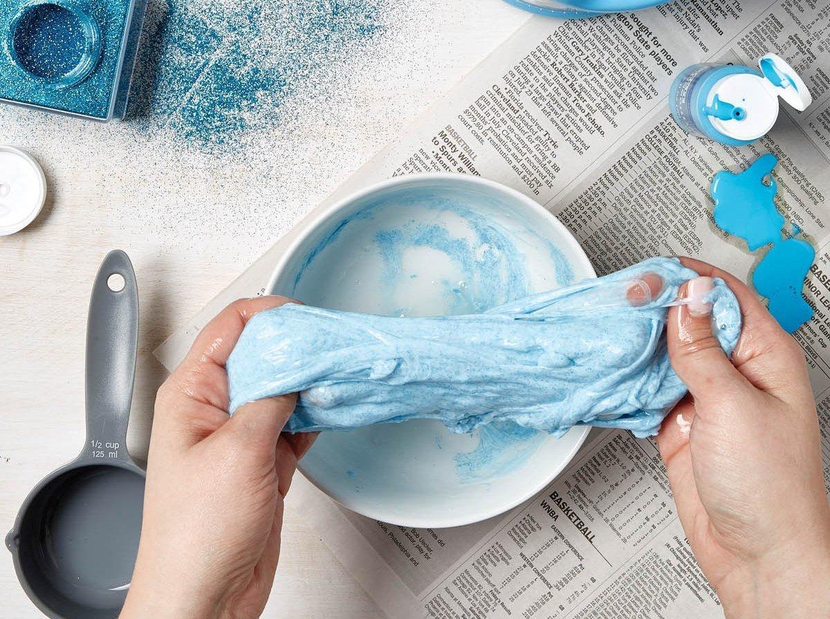 Рецепт как сделать лизуна в домашних условиях из клея