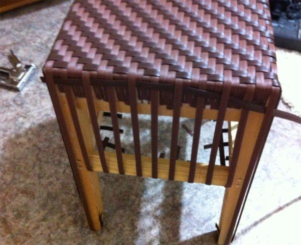 Оплетение боковин стула