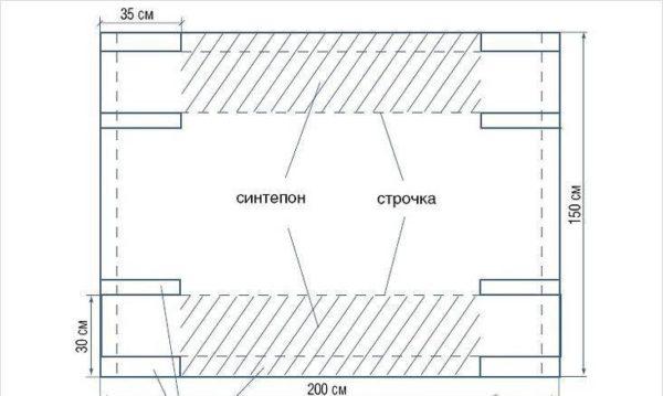 Схема раскройки для гамака