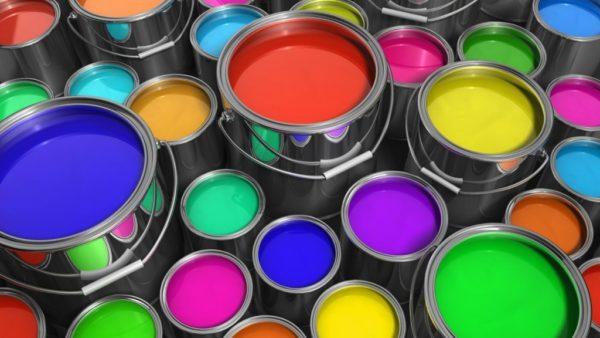 Краски в вёдрах
