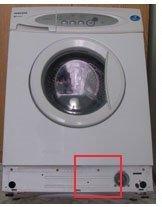 Доступ к патрубку стиральной машины