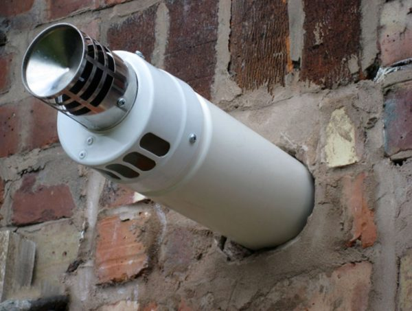Коаксиальный дымоход с дефлектором