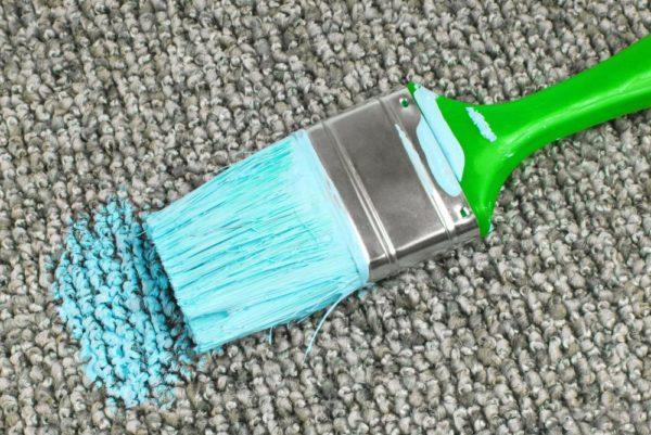 Краска на ковре