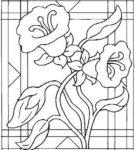 Эскиз цветка с решёткой