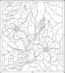 Трафарет с цветочный рисунком