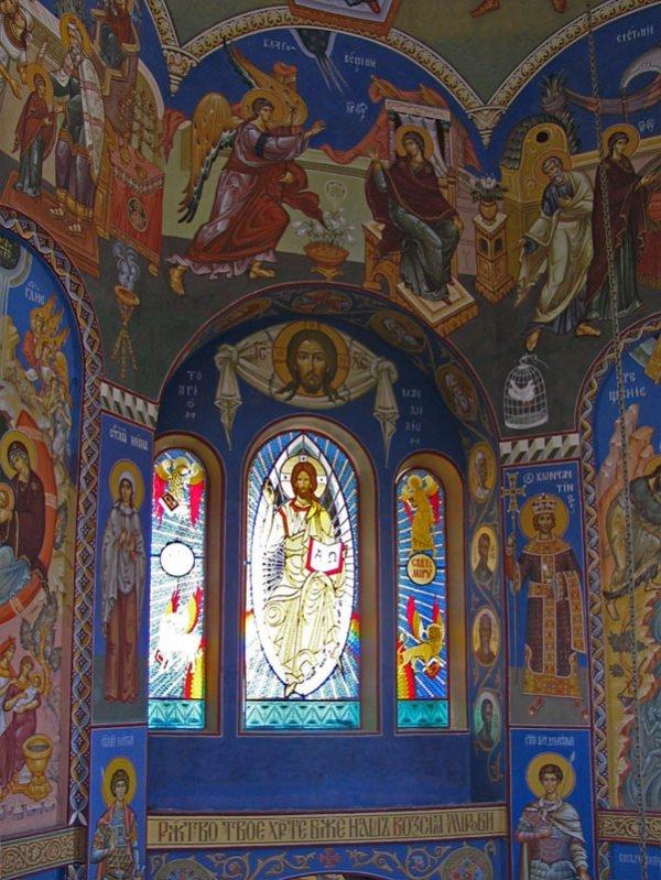 Витраж в византийском стиле