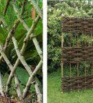 Варианты плетёной изгороди