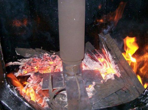 Процесс горения в пиролизной печи
