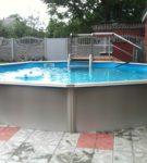 Каркасный бассейн многоугольный