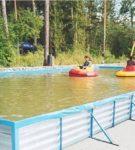 Большой каркасный прямоугольный бассейн