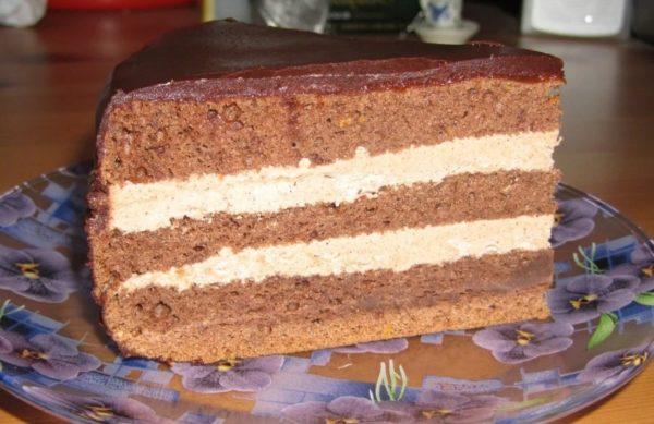 Кусок домашнего торта