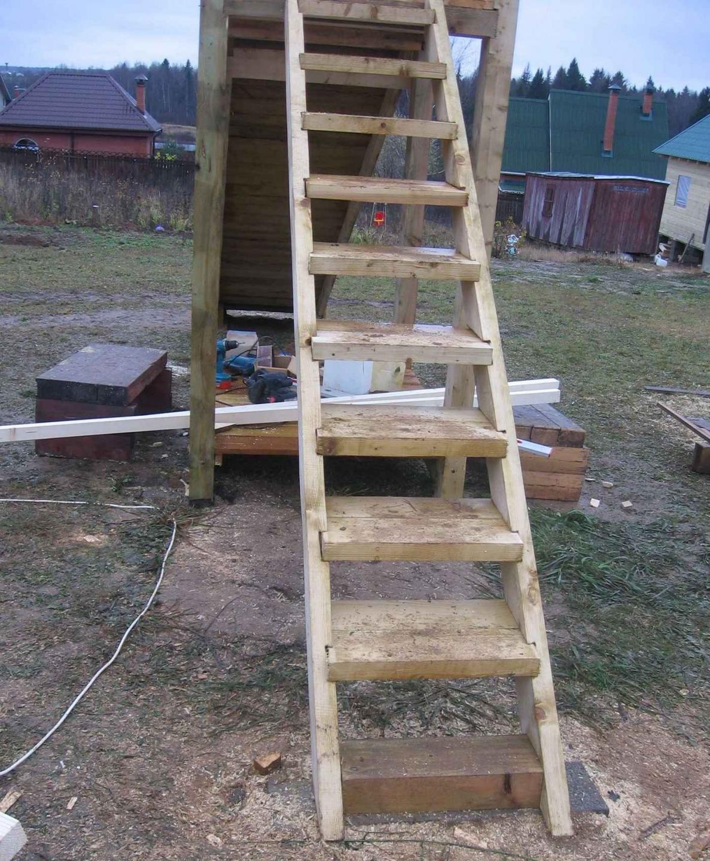 Лестница у дома своими руками фото
