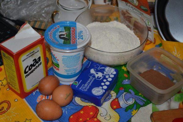 Ингредиенты для приготовления торта Зебра