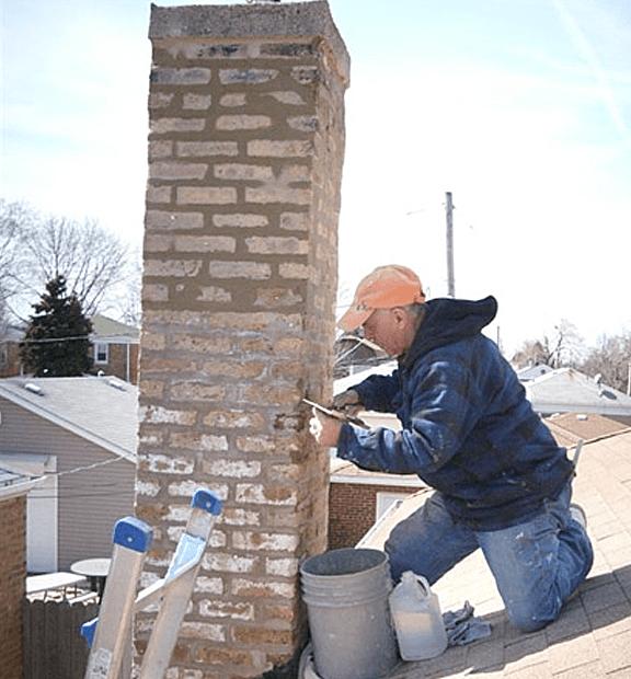 Оштукатуривание дымовой трубы