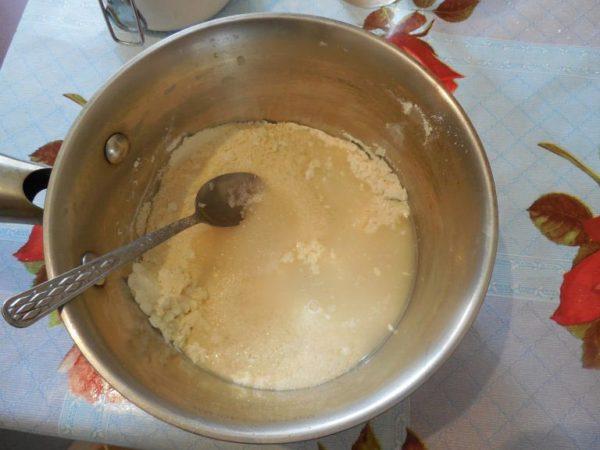 Разведённое сухое молоко