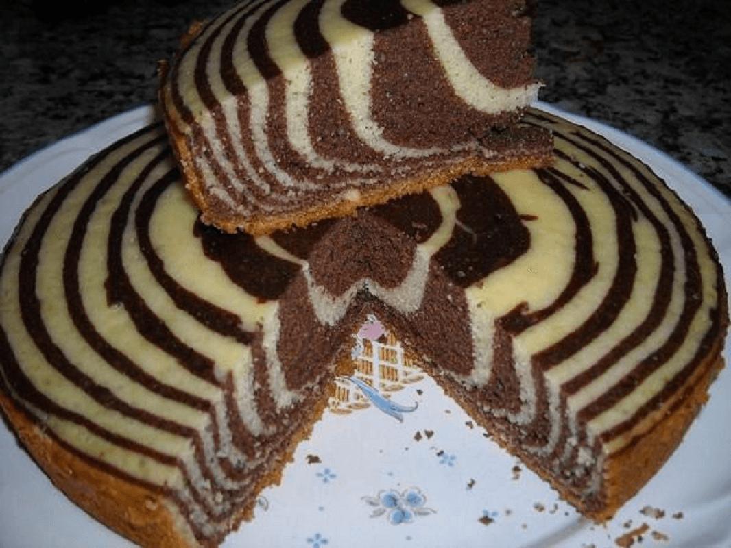 Пирог зебра без сметаны рецепт с фото пошагово в домашних условиях