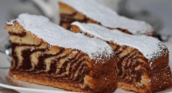 Кусочки пирога Зебра