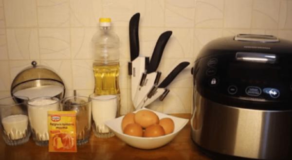 Продукты для приготовления торта Зебра