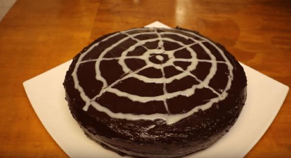 Торт Зебра в шоколадной глазури