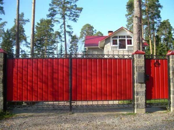 Ворота из профлиста