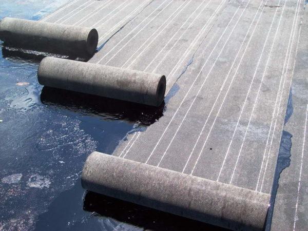 Рубероид для закрытия бетона